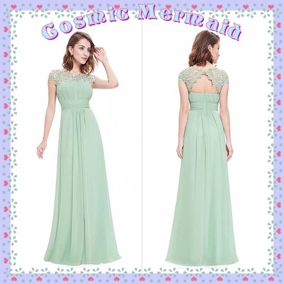c6c0561e89e9 Dresses | Mintgrecian Goddess Flowy Bridesmaid Dress | Poshmark